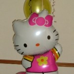 Hello Kitty Air fill display with helium balloons