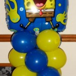 Spongebob themed balloon display