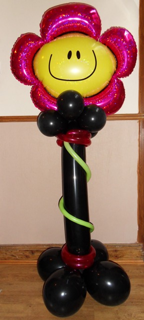 Giant flower standing balloon display