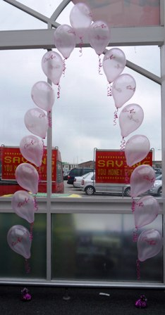 tickled pink balloons blackpool, balloons asda blackpool, corporate balloons blackpool, balloon delivery blackpool, balloon arch, blown away balloons blackpool
