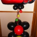 Disney Cars display with balloon traffic light base