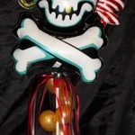 Pirate themed candy weight display