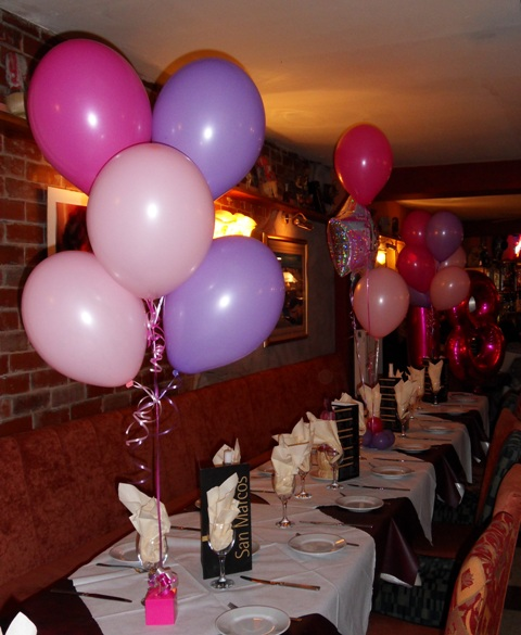 18th foil and latex helium balloons