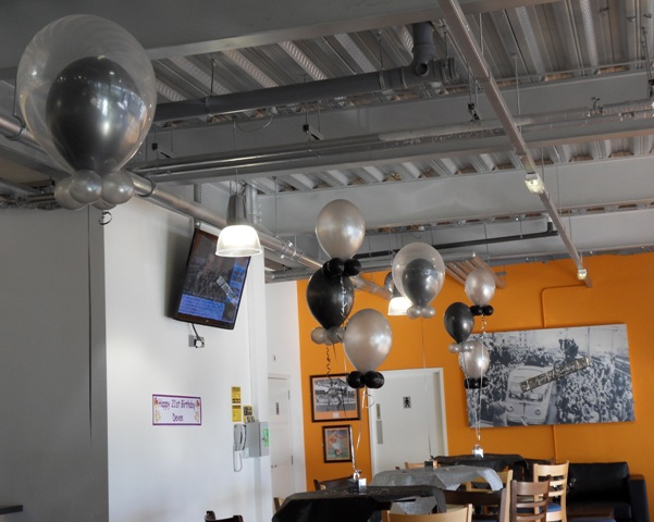 Double Bubbles and latex helium balloons