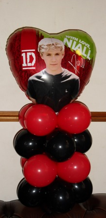 One direction themed foil birthday balloon