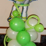 Buzz Lightyear foil balloon on balloon base