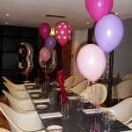 30th foil and latex birthday balloons
