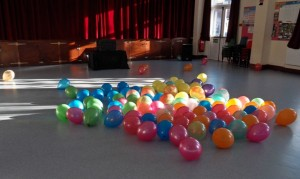 Dancefloor Balloons for childrens party