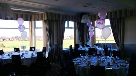 90th foil and latex party balloons