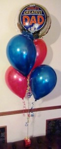 Dad foil and latex birthday balloon bouquet