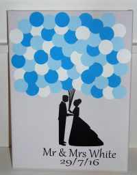 wedding guest book blackpool, handmade guestbooks, blown away balloons blackpool