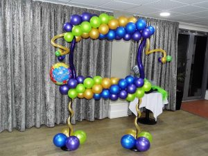 balloon photo frame, photo booth, selfie frame