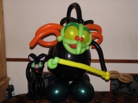 Witch balloons, black cat balloons, halloween themed balloons