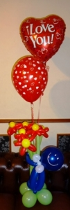 valentines day balloons, box of balloons, balloons blackpool, valentines delivery blackpool, flowers blackpool, helium valentines balloons
