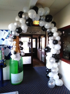 50th balloons, organic balloon arch, helium balloons, blown away balloons blackpool, balloon delivery blackpool, themed balloons