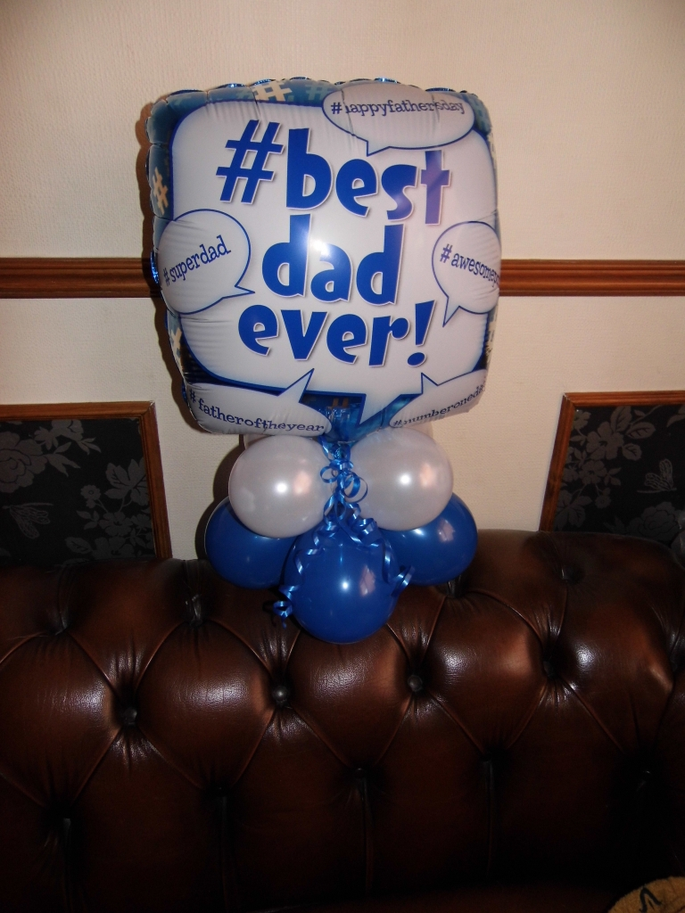 Fathers Day balloon display, air filled balloons, fathers day balloons, fathers day balloon delivery blackpool, balloons blackpool