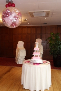 Wedding Balloons, Balloon Arch, helium balloons blackpool, wedding balloons blackpool, blown away balloons blackpool, 3ft exploding balloons, barton grange hotel