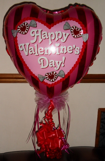 valentines balloons, candy weighted balloons, valentines gifts blackpool