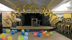 Balloon arch, helium balloons, name balloon arch, number balloons, balloons blackpool, balloon delivery blackpool