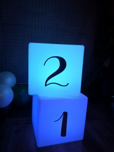 Light Up Number Seat Hire Blackpool