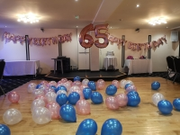 Rose gold balloons, 60h balloons, birthday balloons, balloon banners, floor balloons, party balloons blackpool